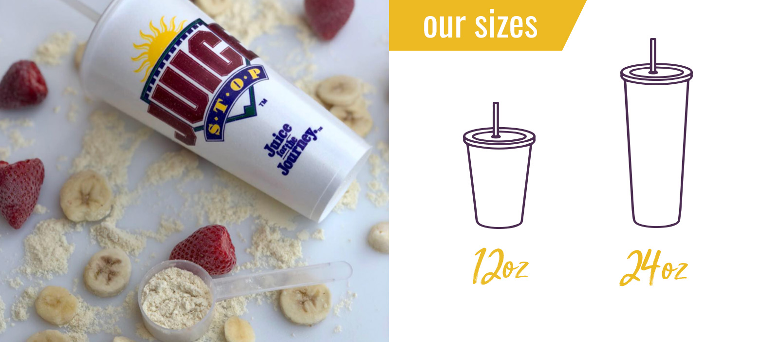 Smoothie Sizes Banner